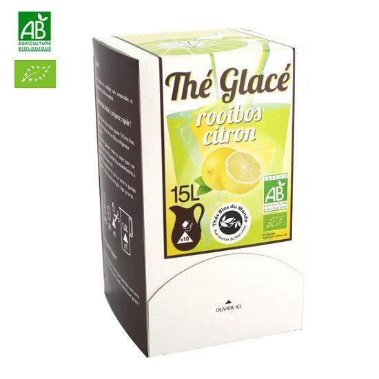 Thé Glacé bio - Rooibos au citron 10 sachets