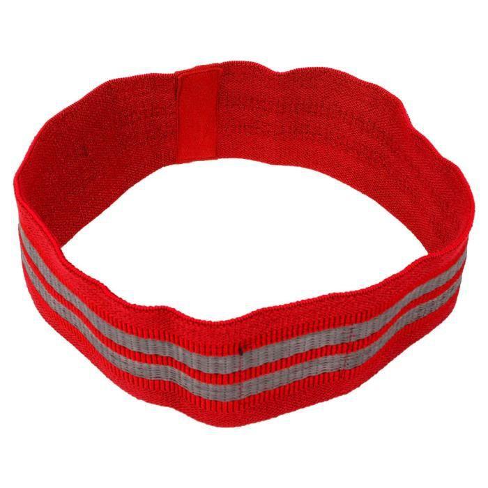 Squat Training Hip Ring Bande élastique Sport Resistance Bands Yoga Exercise Rally Belt (rouge M)_SHC
