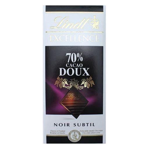 Lindt Excellence Noir Subtile 70% Cacao Doux (lot de 2)