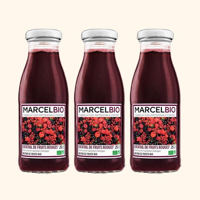 Marcel Bio - Cocktail de Fruits Rouges Bio 25cl - Pack de 3