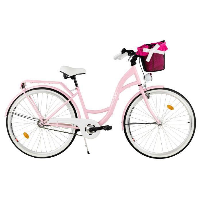 Vélo de Confort avec Panier, Byciclette, Vélo Femme, Vélo de ville, 1 Vitesse