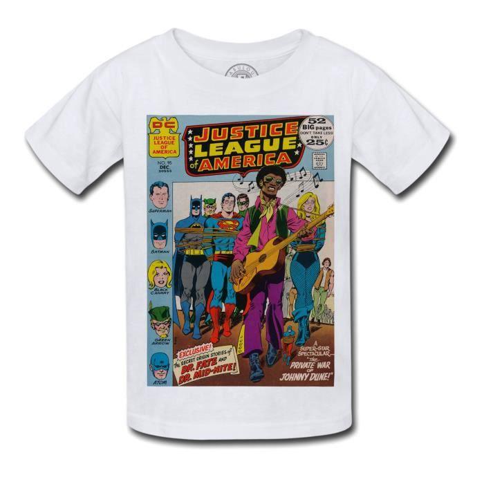 T-shirt Enfant Justice League Superman Batman Bande Dessinee Comics Super Hero