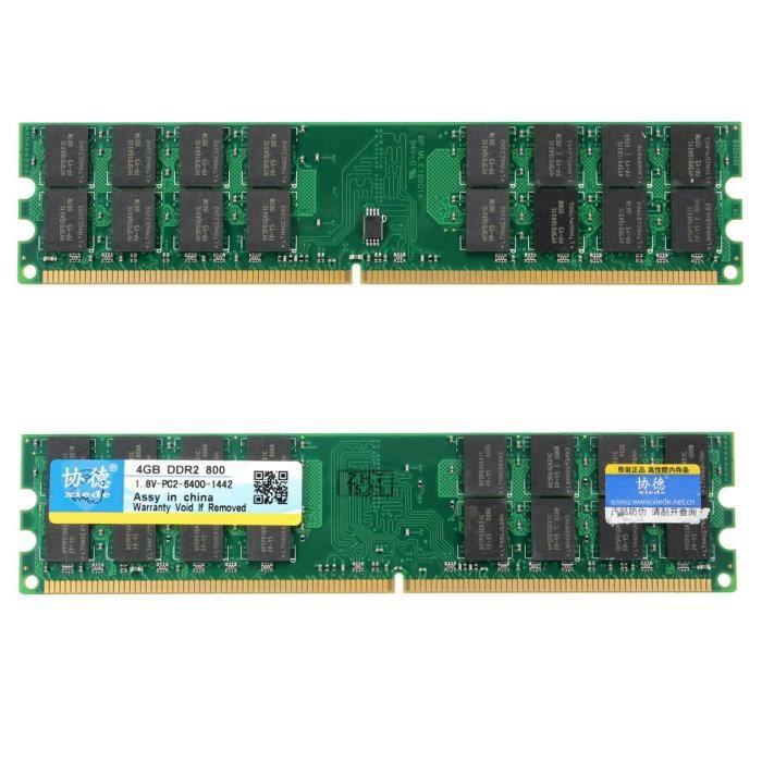 Neufu Xiede 2X 4G Mémoire Ram 4Gb Ddr2 Pc2 6400 800Mhz Pour Amd 240 Pin