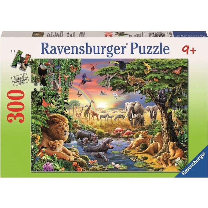 Puzzle 300 pièces XXL - Un coucher de soleil à l'oasis - Ravensburger - Puzzle Enfant 300 pièces - Dès 9 ans