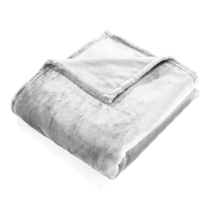 Multiware Couverture Velours Couvre Lit Fausse Fourrure Blanc#6685