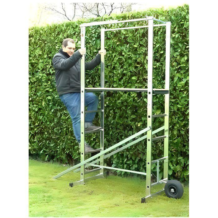 ESCALUX Echafaudage mobile de jardin Hortus 360 cm
