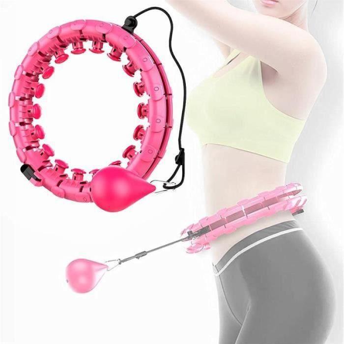 PC40714-Hoola Hoops pour la Perte de Poids, Houla Hop Fitness Hoops avec Massages, 24 Anneaux de Fitness Mobiles et Réglables