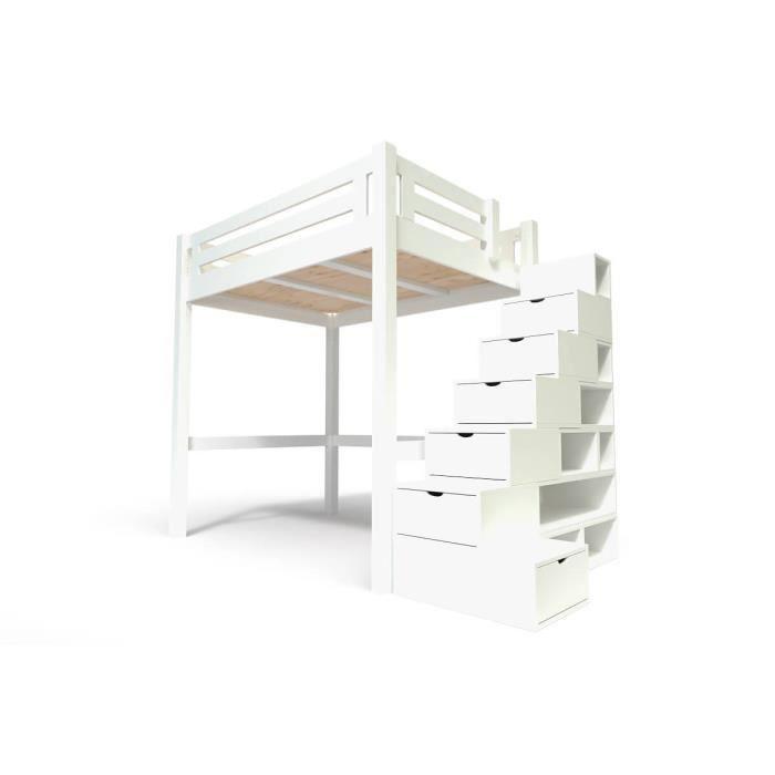 Lit Mezzanine Bois Avec Escalier
