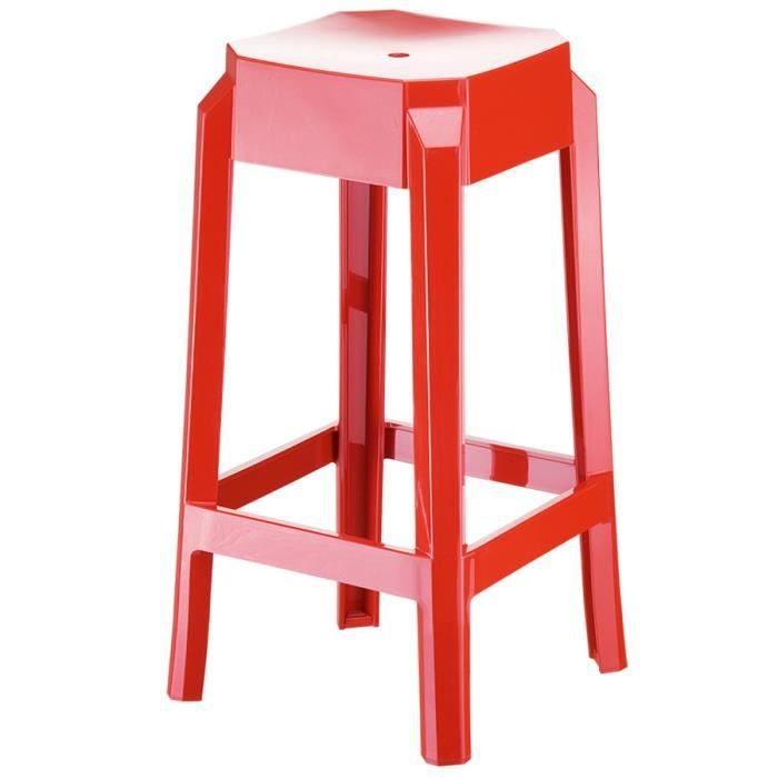 tabouret snack mi hauteur 39 leno mini 39 rouge en achat. Black Bedroom Furniture Sets. Home Design Ideas