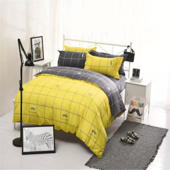 parure de couette parure de lit simple plaid deux couleurs 1 housse de couette 220x240cm 2. Black Bedroom Furniture Sets. Home Design Ideas