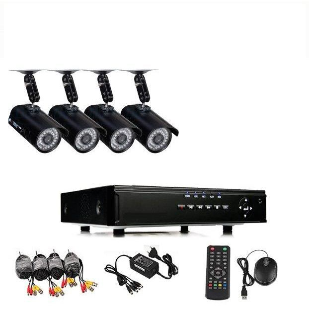 kit video surveillance 4 camera dvr 500 go achat vente kit vid osurveillance cdiscount. Black Bedroom Furniture Sets. Home Design Ideas
