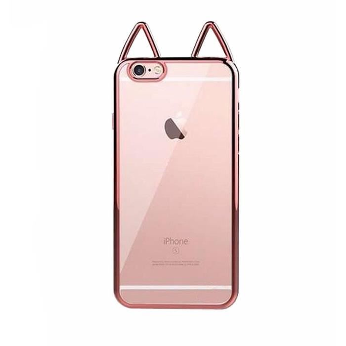 coque iphone 7 plus rose chat