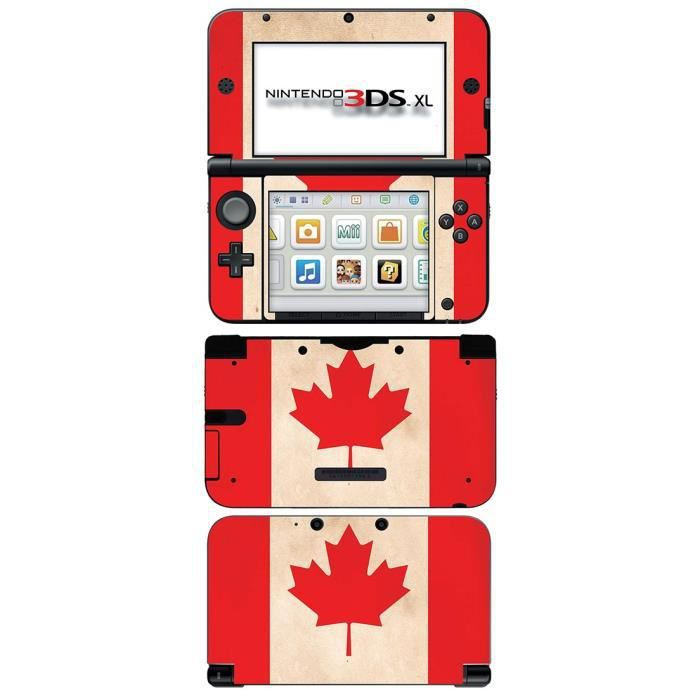 skin stickers pour nintendo 3ds xl sticker canada flag. Black Bedroom Furniture Sets. Home Design Ideas