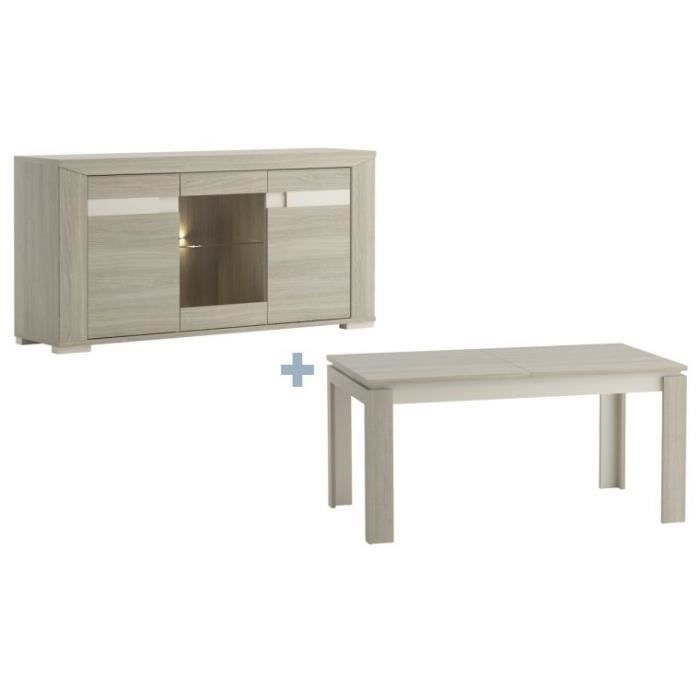 Pack table a manger buffet jazz achat vente salle manger pack table a - Table a manger discount ...
