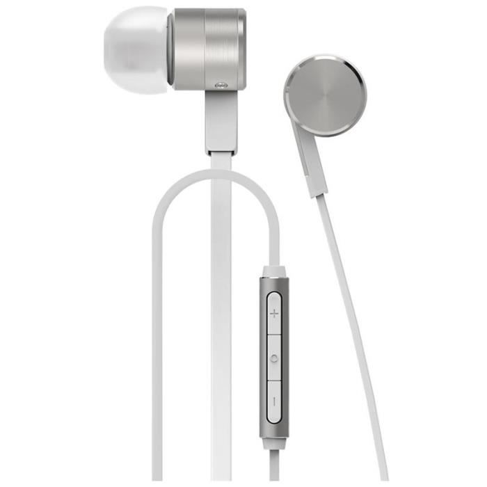 Huawei Honor Am13 Piston Stéréo In-ear Mic Écouteur Argent