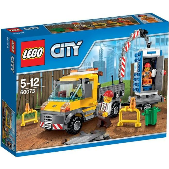 Lego city 60073 le camion grue achat vente assemblage construction cdiscount - Camion lego city police ...