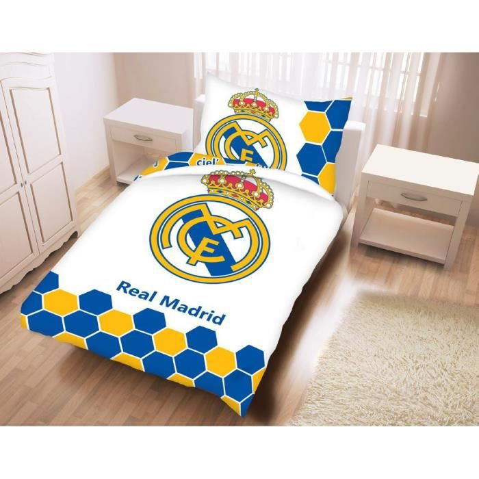 parure lit real madrid achat vente parure lit real madrid pas cher soldes d s le 10. Black Bedroom Furniture Sets. Home Design Ideas