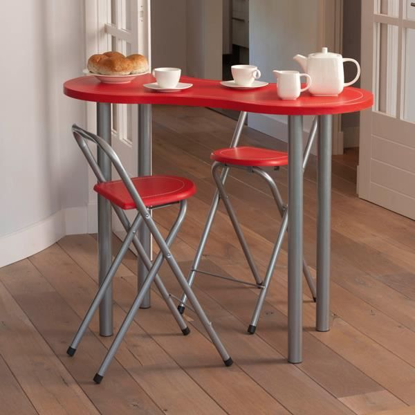 ensemble table coin repas 2 tabourets rouge achat vente table de cuisine ensemble table. Black Bedroom Furniture Sets. Home Design Ideas