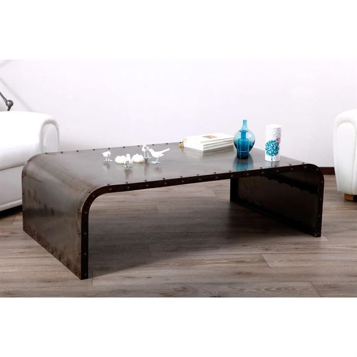 Table basse m tal industrielle ferra achat vente table basse table basse - Decoration industrielle pas cher ...