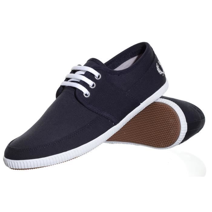 chaussure fred perry tonic canva homme bleu achat vente chaussure fred perry tonic. Black Bedroom Furniture Sets. Home Design Ideas
