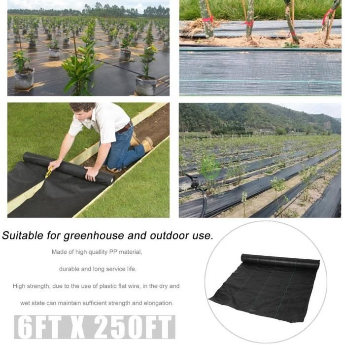 Toile Jardin 1,5 x 10 m Nappes plantes nappes protection plantes mauvaises herbes