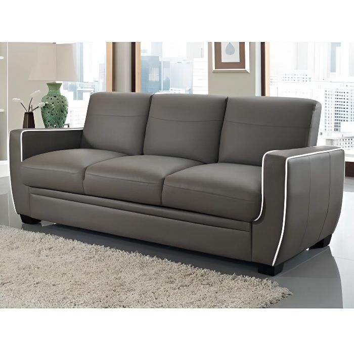 Canap 3 places convertible naty achat vente canap sofa divan cdis - Canape 7 places convertible ...