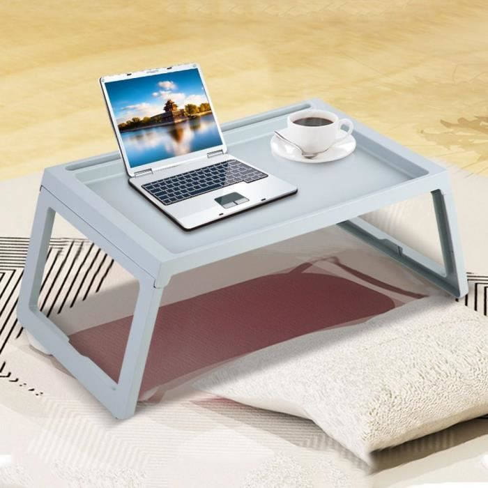 Pliable Bureau Petit Dejeuner Lit Table Ordinateur Portable Table