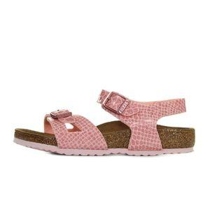 Sandale Birkenstock Rio Metallic Stones Pink Narrow Kinder