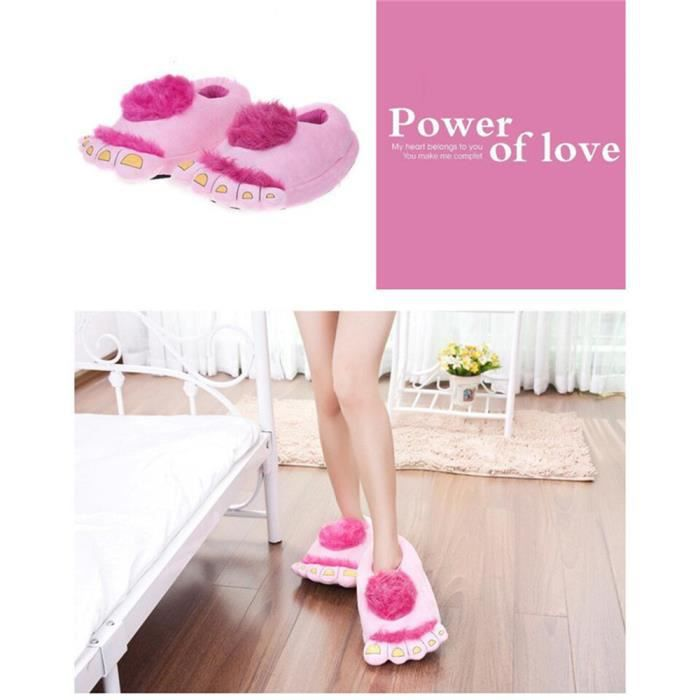 BBJ monstre Pantoufles Coton slippers XZ036Marron37 cartoon Pantoufles monstre Bigfoot Bigfoot 8qZW5ftwK