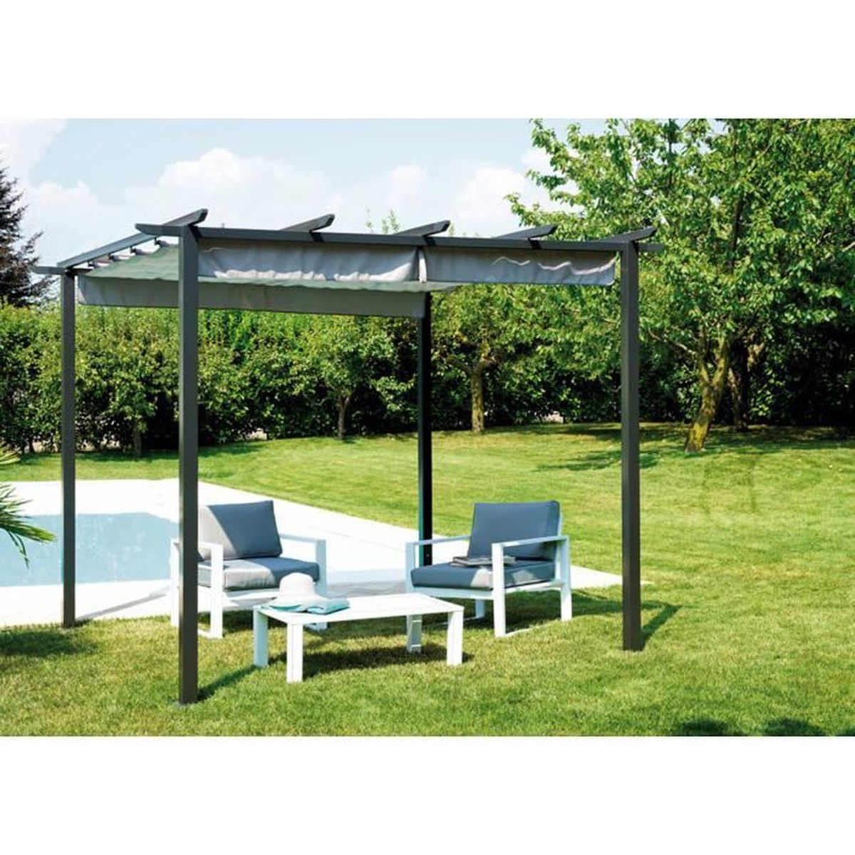 pergola en fer achat vente pergola en fer pas cher. Black Bedroom Furniture Sets. Home Design Ideas