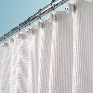 RIDEAU DE DOUCHE rideau de douche tissu de luxe – en coton et en po