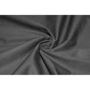 TISSU Tissu Gabardine Lavée Noire -Au Mètre