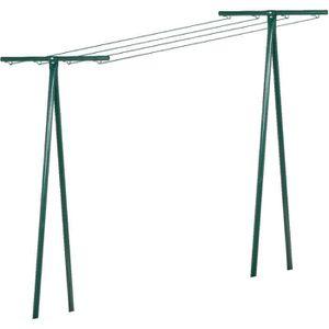 FIL À LINGE - ÉTENDOIR Séchoir tube acier - Peinture verte
