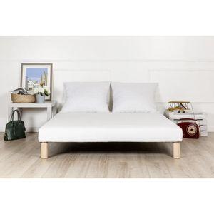 SOMMIER sommier tapissier 130x190 épaisseur 13cm, lattes r