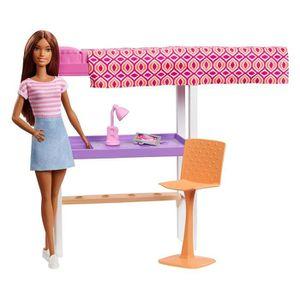 POUPÉE Barbie Mobilier coffret d'intérieur poupée et lit