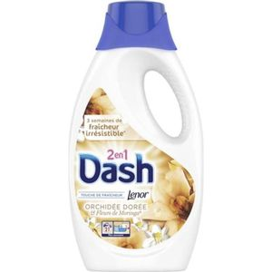 LESSIVE Dash Lenor Liquide Orchidée Dorée et Fleurs De Mor