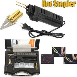 ensemble avec 200 agrafes - nouveau 100 x 8 mm /& 100 x 6 mm Plastique /& metal pistolet à agrafer