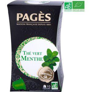 THÉ PAGES Thé Vert Menthe - Capsules - Bio
