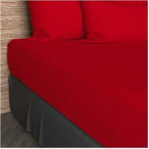 DRAP HOUSSE Drap housse 90x200 cm en coton SO rouge
