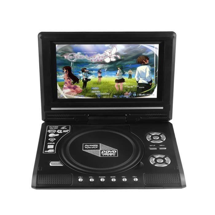 AIHONTAI® Lecteur DVD portable 7.8- écran LCD 270 degrés écran pivotant portable joueur de jeu TV ID506