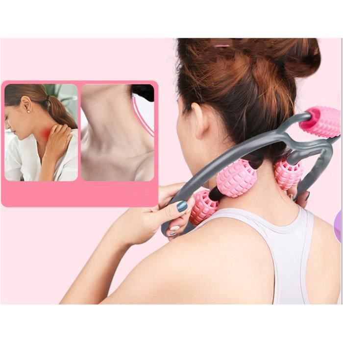 Appareil de Massage avec poignée, Masseur Anti Cellulite,Efficace sur Les Jambes,Hanches,Fesses,Bras,Cou,Body