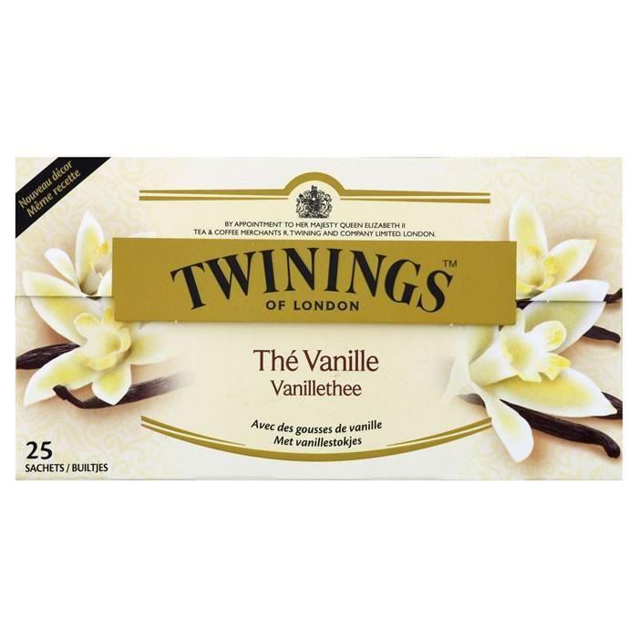 LOT DE 24 - TWININGS Thé noir à la vanille 25 Sachets