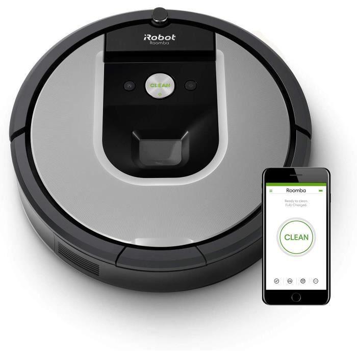 iRobot Roomba 971, aspirateur robot connecté WiFi avec forte puissance d'aspiration - 2 brosses anti-emmêlement en caoutchouc - pour