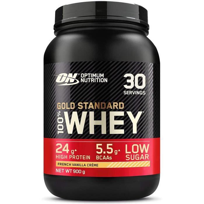 Gold Standard 100% Whey Protéine en Poudre avec Whey Isolate Proteines Musculation Prise de Masse Crème Vanille 30