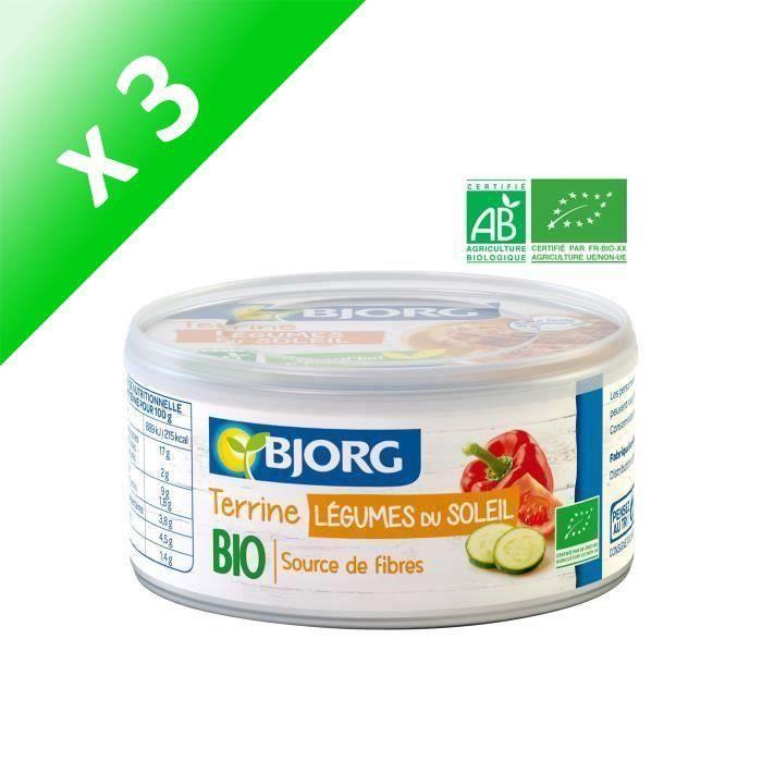 [LOT DE 3] BJORG Terrine Végétale légumes du Soleil Bio 125g
