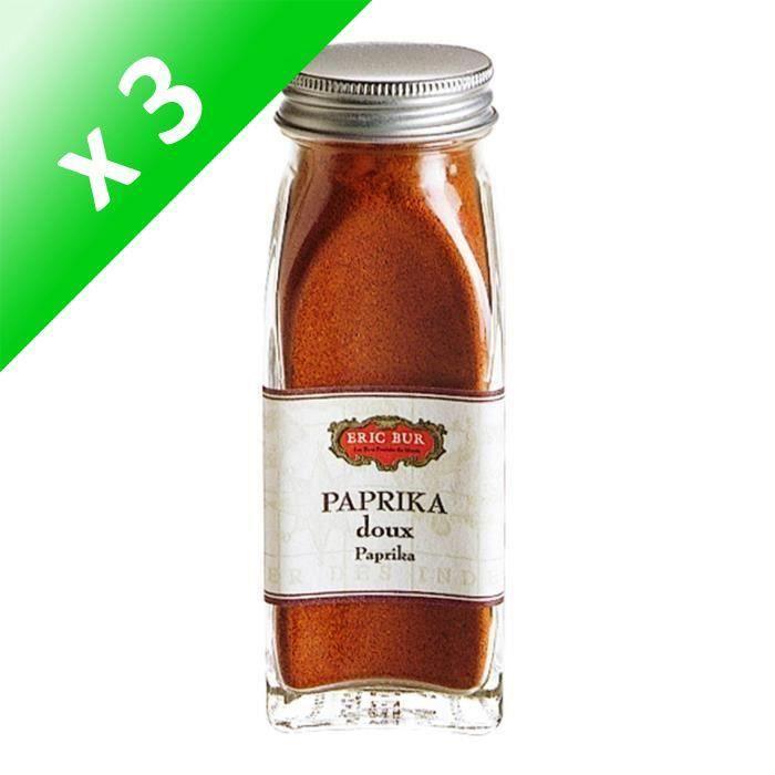 [LOT DE 3] ERIC BUR Epices Paprika Doux - 52g