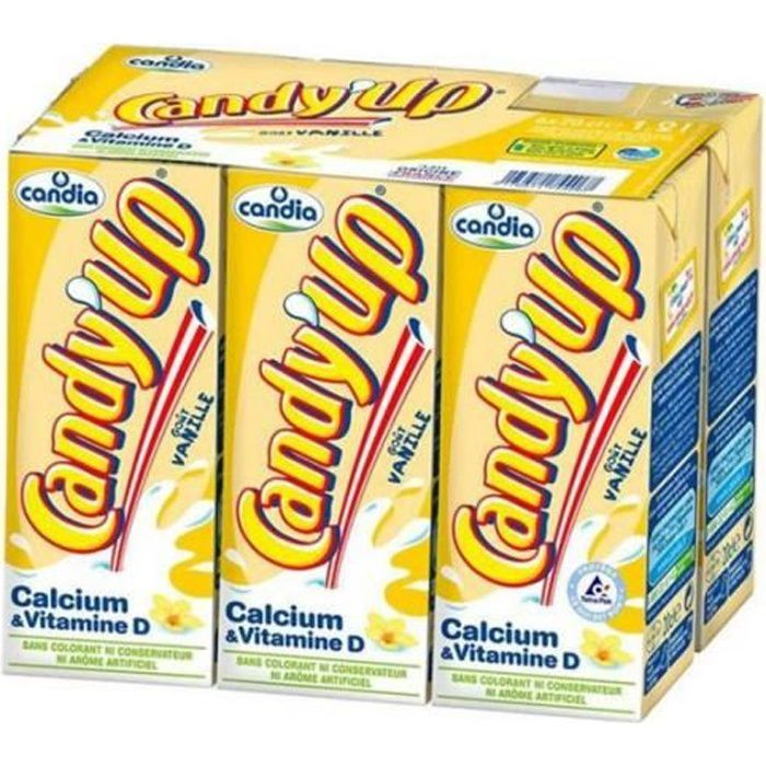 Candia - Candia Candy'up Vanille 20cl (pack de 6)