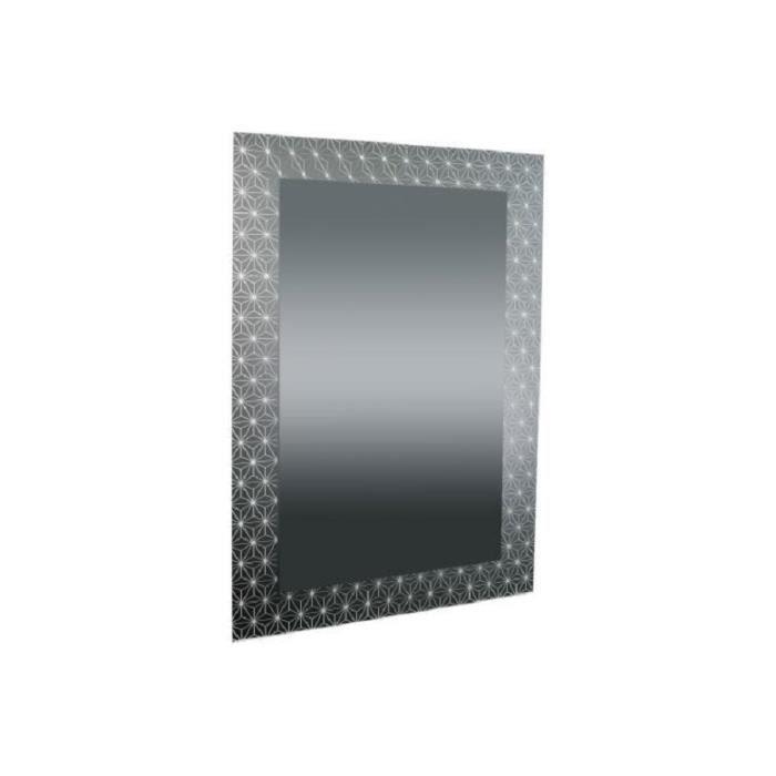 Miroir Rectangulaire Impression Etoiles Anthracite 90x60 DOLIPA