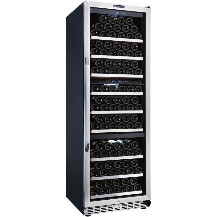 LA SOMMELIERE MZ180TZ Cave à vin de vieillissement et de mise à température triple zone - 166 bouteilles - Pose libre et intégrable