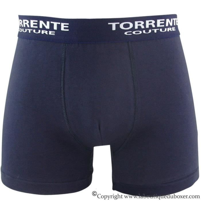 TORRENTE COUTURE Boxer Homme Coton CLASSIC Marine